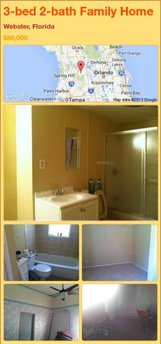 3-bed 2-bath Family Home in Webster, Florida ►$80,000 #PropertyForSale #RealEstate #Florida http://florida-magic.com/properties/92956-family-home-for-sale-in-webster-florida-with-3-bedroom-2-bathroom