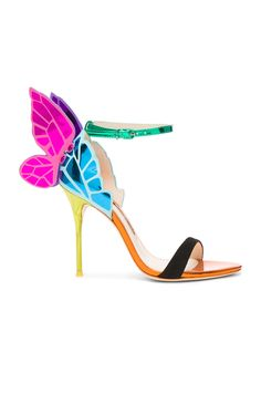 SOPHIA WEBSTER  CHIARA LEATHER SANDALS