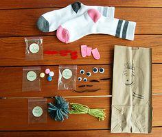 DIY Sock Puppet Kit ( a super fun gift!)