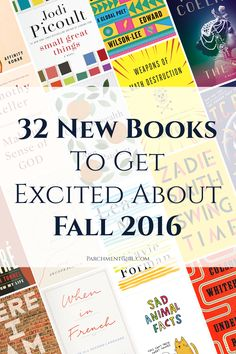 You TBR list is about to explode... Here are 32 amazing new books coming this fall!
