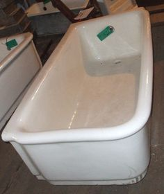 Late 19th/ Early 20th Century Two Sided Built In Tub