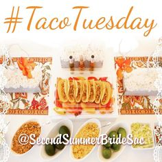 #Lovelies ever dream of a #TacoBar? We do every night especially if it looks like this!!! #TacoTuesday       #SecondSummerBrideSac #SecondSummerBride #Love #Boho #Inspiration #Magic #Yum #Yummy #Tacos #TacoBride#Nomnom #SacramentoBride #BohoBride  #BrideSquad #WeddingDo #SayYes #ShopLocal #Gown #BridalFashion #Sacramento #BohoMagic #WeddingGown #DreamWedding