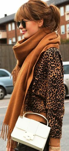 Leopard and tan...