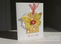 Watercolor Wings, #stampinup, Dena Rekow, The Creativity Cave, handmade cards