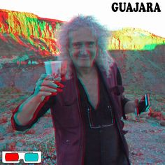Brian May At The Guajara Expedition - 3D Anaglyph Photography.