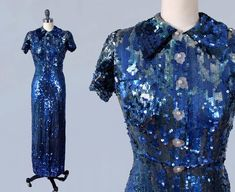 Discover New, Inspiring Finds Every Day Elsa Schiaparelli, 1930s Fashion, Vintage Fashion, Vintage Style, Sequin Evening Gowns, 1930s Dress, Chiffon Dress, Frocks, Vintage Outfits