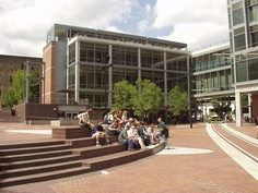 Portland State University in center of the city