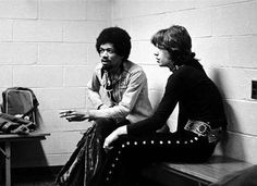 [ jimi hendrix and mick jagger in 1969 ]