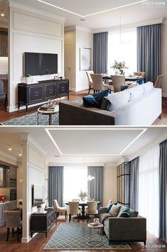 Livingroom + Kitchen - Галерея 3ddd.ru