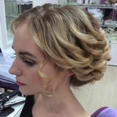 Low+Curly+Updo