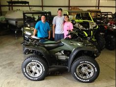 Thanks to Chad Thomas, John Bright and Tiffany Warren from Covington MS for getting a 2014 Honda Rincon at Hattiesburg Cycles