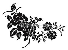 Photo and image portfolio by Flower design sketch gallery, featuring 622 high-quality, royalty-free images. Motif Vector, Free Vector Art, Vector Pattern, Flower Design Vector, Flower Designs, Stencil Patterns, Stencil Designs, Line Art, Rosas Vector
