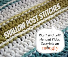 "This video tutorial has been a long time coming, as it showcases a technique I used in one of my first crochet patterns! I've learned a lot since then – including the need for this tutorial. What I haven't found is an official name for this technique – so if you know of a ""real"" [...]"