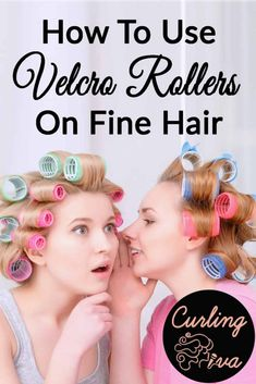 Velcro rollers are self gripping. With fine thin hair you dont typically need to buy pins or clips to hold them in place. Lets talk about how to use velcro rollers on fine hair to get va va volume and soft sweet curls that our grandmas would be proud of. How To Curl Short Hair, Short Thin Hair, Pin Curls Short Hair, Bun Hair, Short Hairstyles Fine, Curled Hairstyles, Medium Hairstyles, Celebrity Hairstyles, Wedding Hairstyles