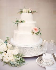 Annie And Tad's Elegant Beverly Hills Wedding - The Cake