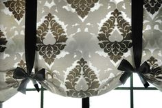 No Sew Tie Up Shades 2019 Front entry: make a short ribboned valance to cover front door roman shade. Need black ribbons curtain bar fabric The post No Sew Tie Up Shades 2019 appeared first on Curtains Diy. Tie Up Curtains, Rod Pocket Curtains, Custom Curtains, Sewing Curtains, Front Door Curtains, Short Window Curtains, Window Valances, Window Privacy, Yellow Curtains