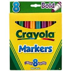 Crayola Coloring Marker Bold Conical 8pk (Set of 3)