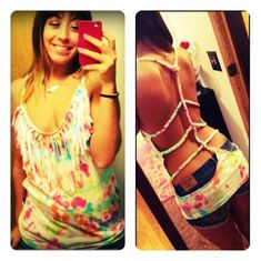 DIY Braided Tank Top #DIY #Sew #Sewing #Clothes #Braid #Braids #Tanks #TankTops #Tops cute with a bathing suit for summer