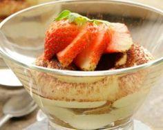 Tiramisu léger aux fraises et spéculoos