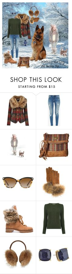 """""""Walking the Dog, All Grown Up"""" by teresarussell49 ❤ liked on Polyvore featuring Joe Browns, Ted Baker, American West, Versace, FRR, Alexandre Birman, Bogner, Kate Spade and Simplify"""
