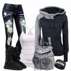love this outfit but I think with some different jeans..