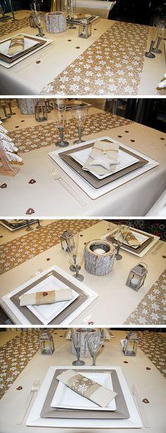 d coration de table rose poudr e pour no l une table toute en vaisselle jetable avec l. Black Bedroom Furniture Sets. Home Design Ideas