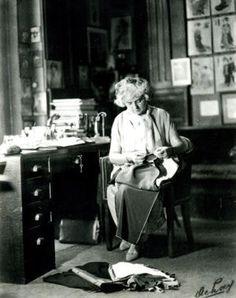 Madeleine Vionnet in her studio, Avenue Montaigne, 1930
