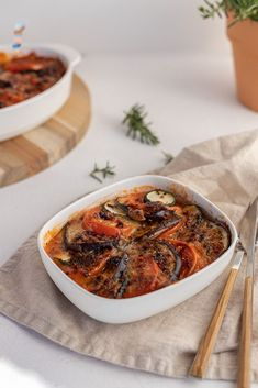 Gebackenes Ratatouille aus dem Ofen Low Carb Meal, Ratatouille, Curry, Foodblogger, Ethnic Recipes, Souffle Dish, No Sugar, Glutenfree, Healthy Recipes