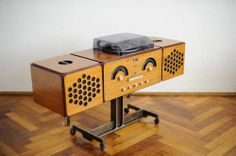 Serviced 60s Vintage Brionvega RR 126 fo st Design Record Player Turntable Radio