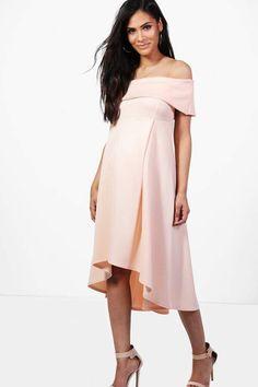 71cbd3e126 boohoo Maternity Darcy Double Layer Midi Dress. ad Boohoo Maternity