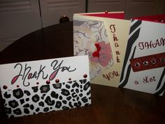 Leopard print Thank you cards
