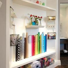 Craft Room with Wrapping Paper Station
