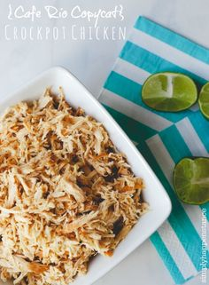 Cafe Rio Copycat Chicken - don't know what Café Rio is, but this sounds easy and yummy so I'll give it a try...