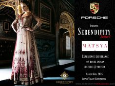 #Serendipity proudly presents #MATSYA, Royal Ethnic indian wear Outfits at #take4 at Vasant continental on 6th August 2015. between 10am - 8pm. http://www.matsyaworld.com/