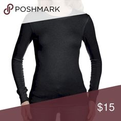 """Long Sleeve Thermal Top by Bella Black Size Medium Womens Long Sleeve Thermal Top by Bella Black Size Medium fits sizes 4-8 chest 28-34"""" A/B. Great when layered with short-sleeve styles for extra warmth. Long sleeves and a crew neckline define this versatile style, super cute. Brand New with Tags Bella Tops Tees - Long Sleeve"""