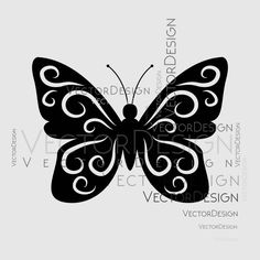 Butterfly v1 Graphics SVG Dxf EPS Png Cdr Ai Pdf Vector Art Clipart instant download Digital Cut Print File Cricut Silhouette Decal by VectorartDesigns on Etsy