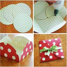 zelf pakjes maken met karton papier