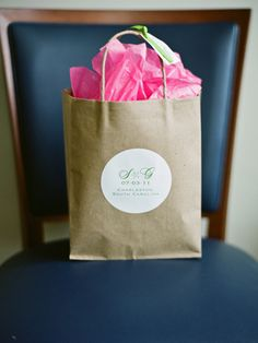 weekend wedding welcome bag... this one's from South Carolina!