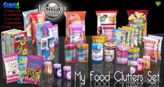 Jom Sims Creations: Food clutters • Sims 4 Downloads