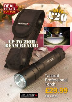 LED Lenser Tactical Professional Torch with 210 metre beam reach! More information here: http://www.tradingdepot.co.uk/DEF/product/!!XMS14TORCH!!/