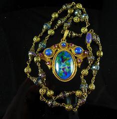 Vintage Art Nouveau Necklace Czech necklace art by vintagesparkles