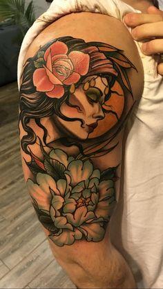 Gypsy by Craig Gardyan at Grim Tattoo - Penndel PA