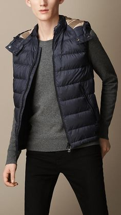 Burberry Brit Down-Filled Hooded Gilet