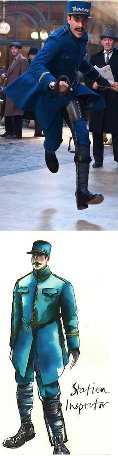Sacha Baron Cohen as the Station Inspector in Hugo (2011). Costume Designer: Sandy Powell