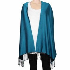 Amazon.com: Two Tone Blue and Black Scarf Silk Charmeuse Accessory for Women: Clothing