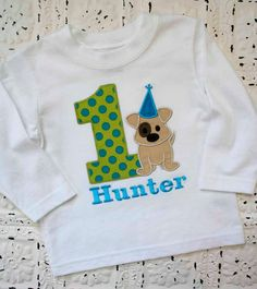 Puppy Dog First Second Third Birthday Shirt Boys by bebeboutiques