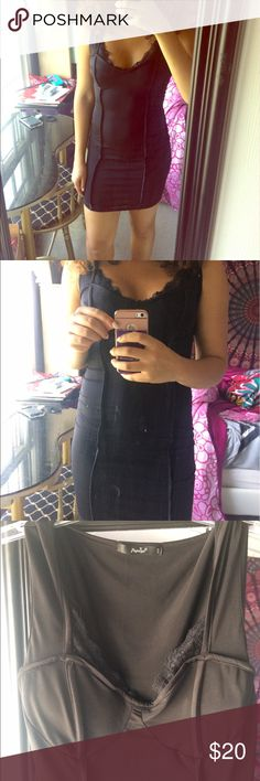 Lace silky body con dress Black silky body con dress with lace trim around the bust area. Worn twice. Excellent condition. Feel free to negotiate with the offer button 😊 Papaya Dresses Mini