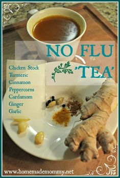 made this, tasted gross to me, not sure if it will keep the flu away or not, i'm not drinking more of it.