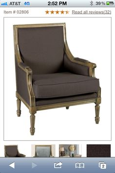 Marie Arm Chair $311 brown faux linen. Home Decorators Collection.