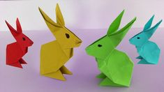 [World] Hase aus Papier falten Origami + Rabbit paper fold Paper Boat Origami, Instruções Origami, Origami Dragon, Origami Butterfly, Paper Crafts For Kids, Diy Paper, Make A Paper Boat, Paper Bunny, Diy Kitchen Projects